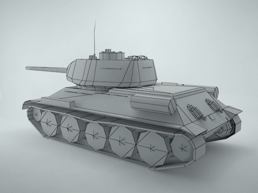 t-34 royalty-free 3d model - Preview no. 10