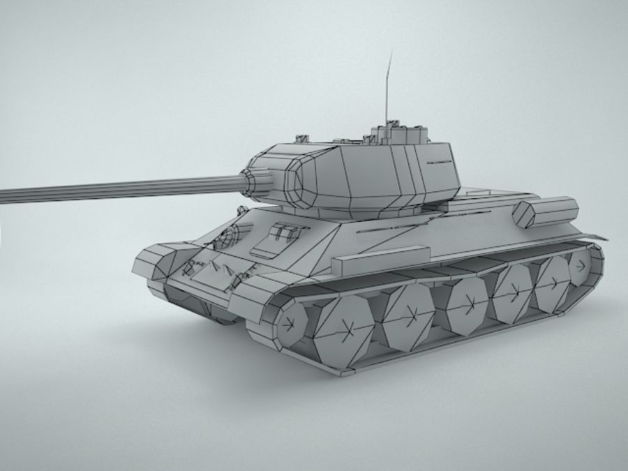t-34 royalty-free 3d model - Preview no. 13