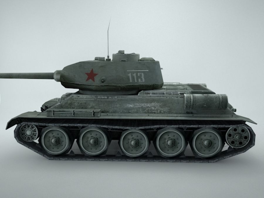 t-34 royalty-free 3d model - Preview no. 6