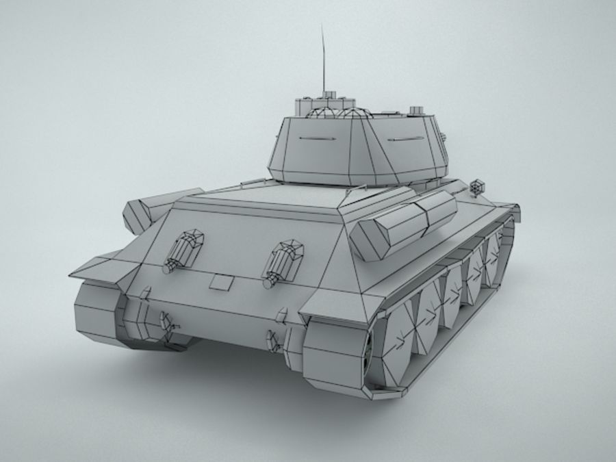 t-34 royalty-free 3d model - Preview no. 15
