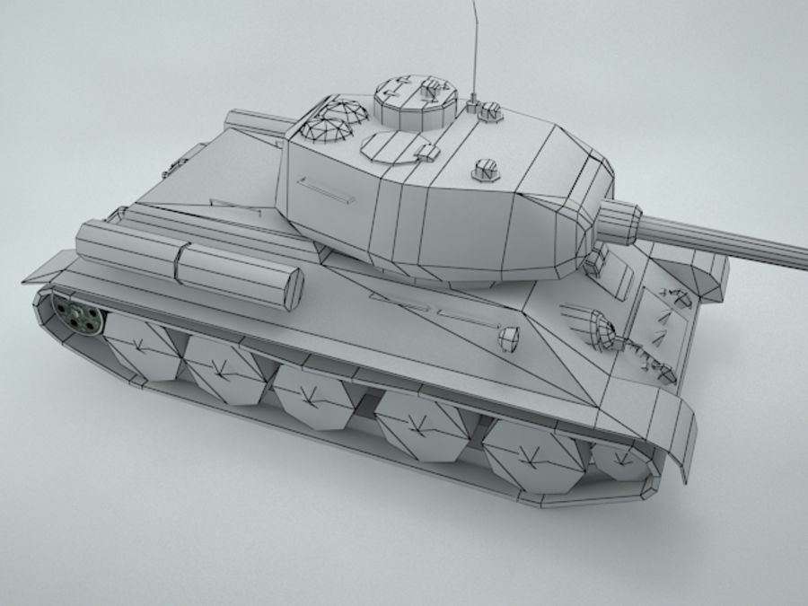 t-34 royalty-free 3d model - Preview no. 16