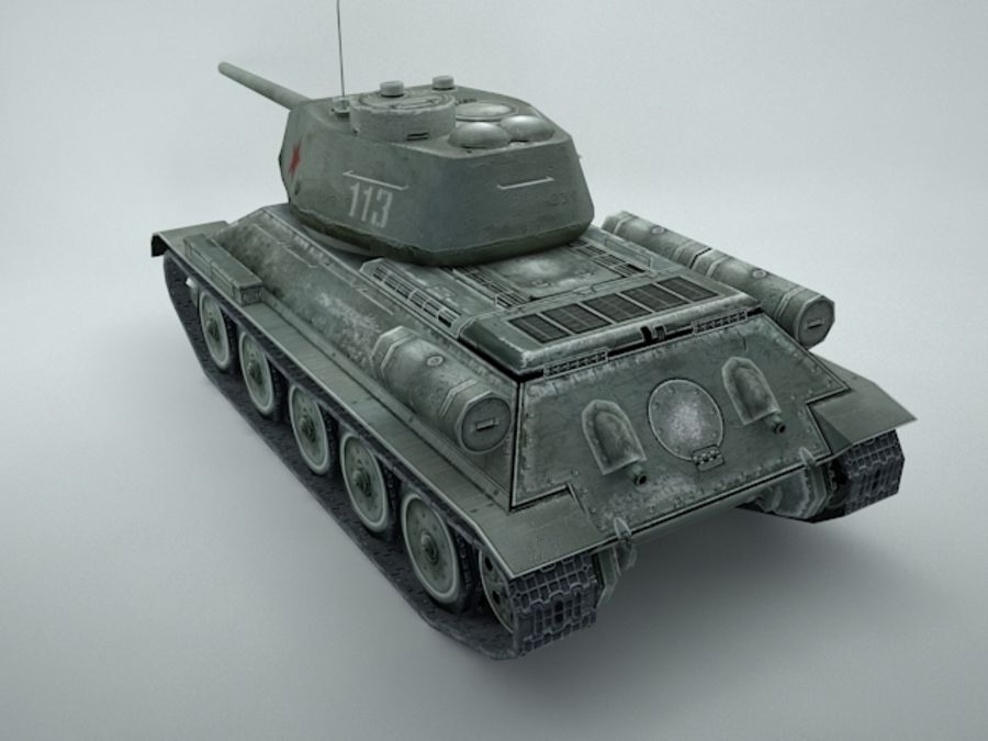 t-34 royalty-free 3d model - Preview no. 4
