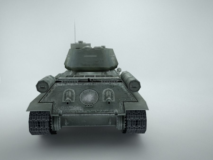 t-34 royalty-free 3d model - Preview no. 9