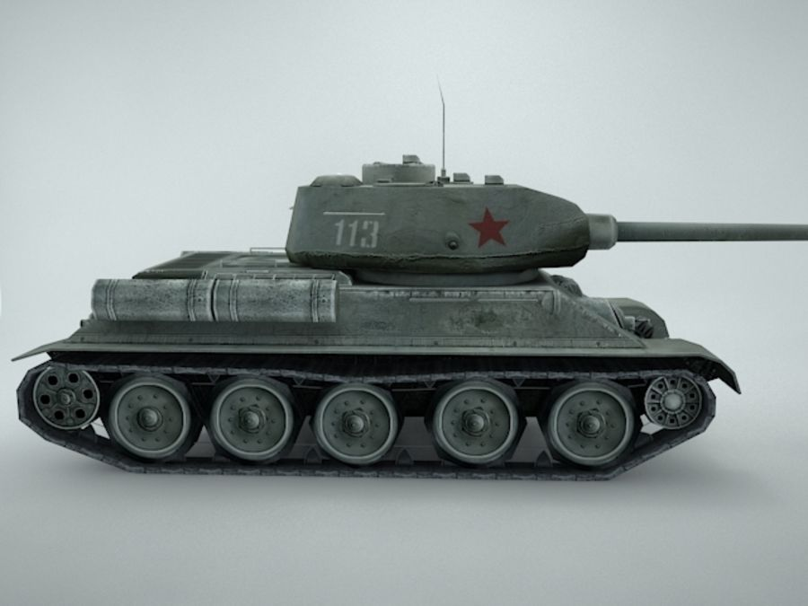 t-34 royalty-free 3d model - Preview no. 8