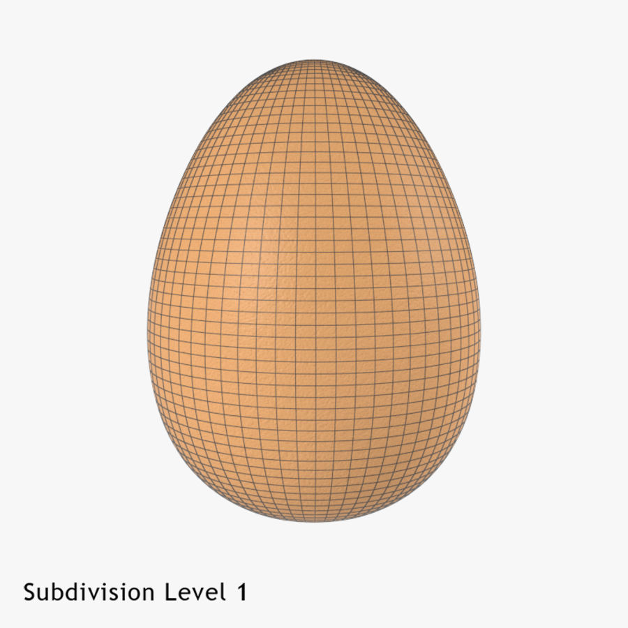 Brown Egg royalty-free 3d model - Preview no. 7