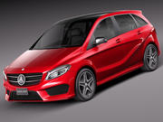 Mercedes-Benz B-Class AMG 2015 3d model