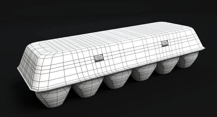 Egg Carton Closed royalty-free 3d model - Preview no. 5