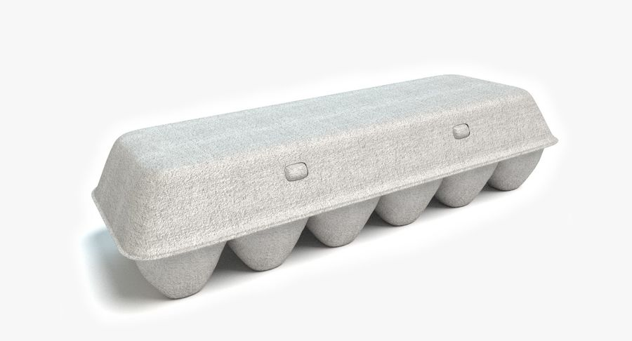 Egg Carton Closed royalty-free 3d model - Preview no. 2