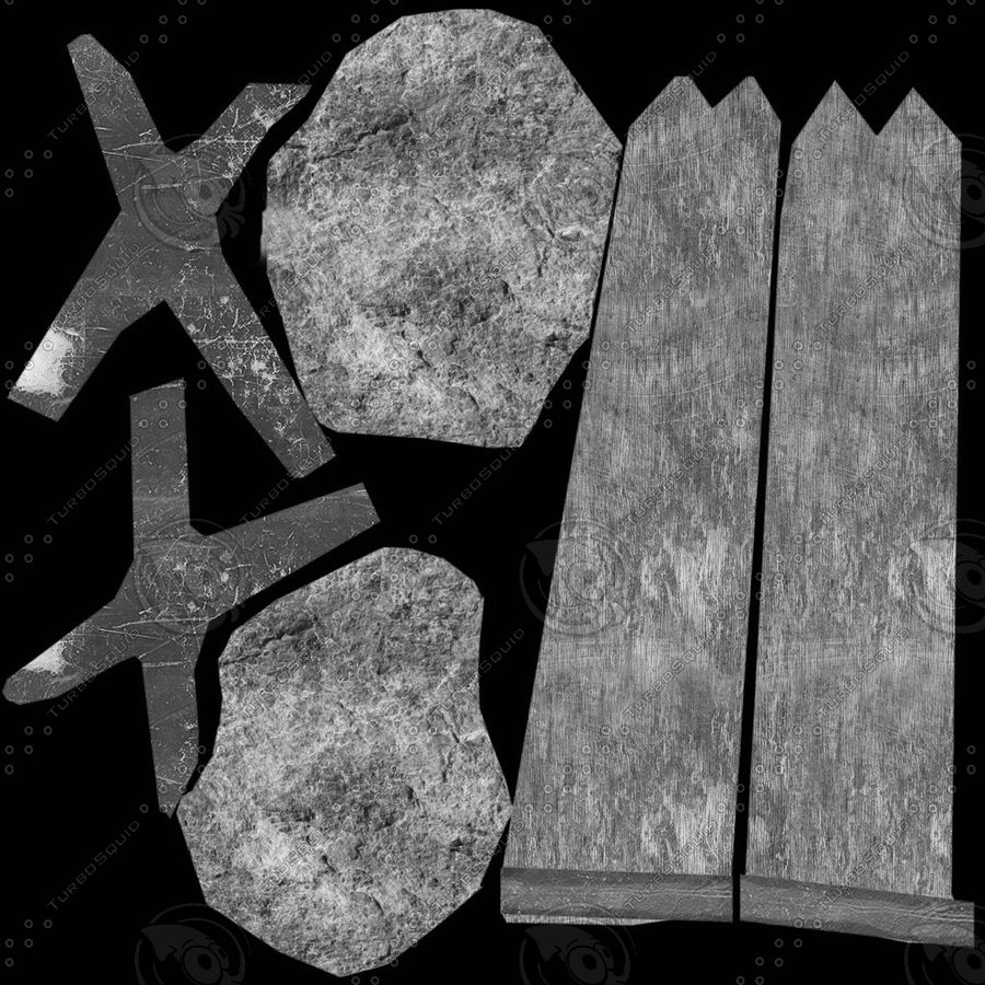 Stone hatchet royalty-free 3d model - Preview no. 7