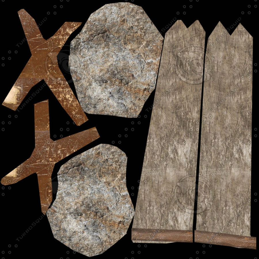 Stone hatchet royalty-free 3d model - Preview no. 6