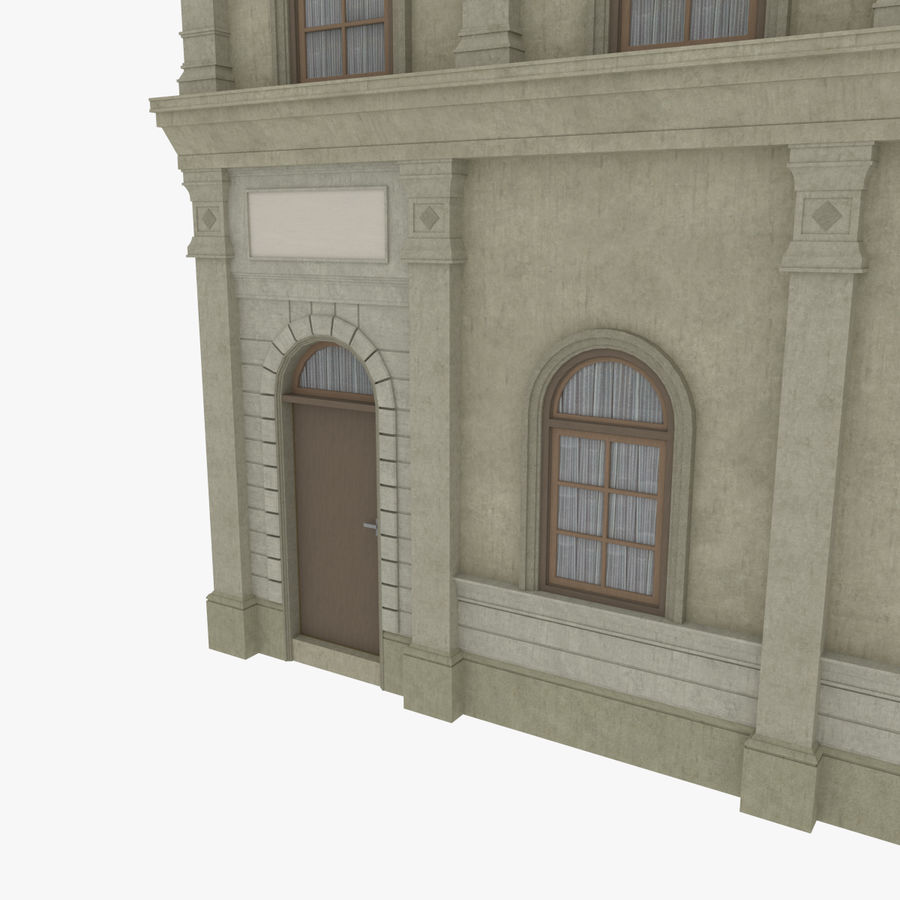European building one textured royalty-free 3d model - Preview no. 8