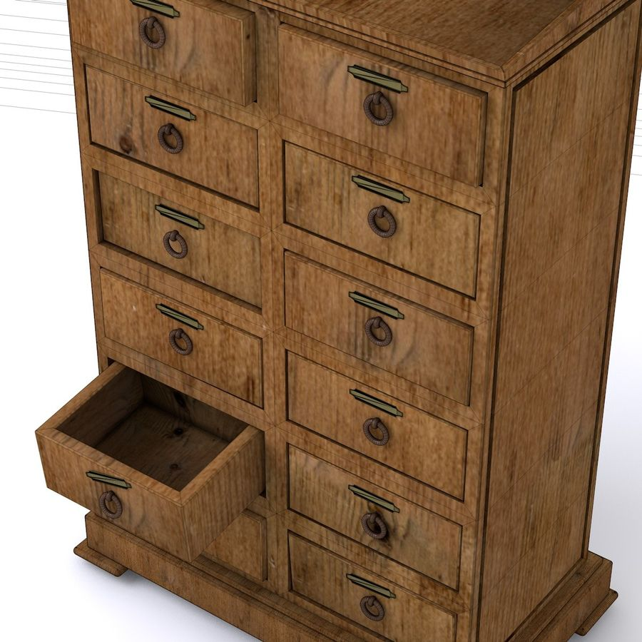 wood Furniture royalty-free 3d model - Preview no. 2