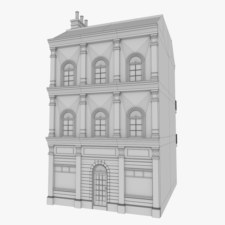 Avrupa yapı yedi dokulu royalty-free 3d model - Preview no. 9