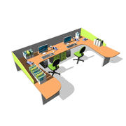 escritorio de oficina modelo 3d