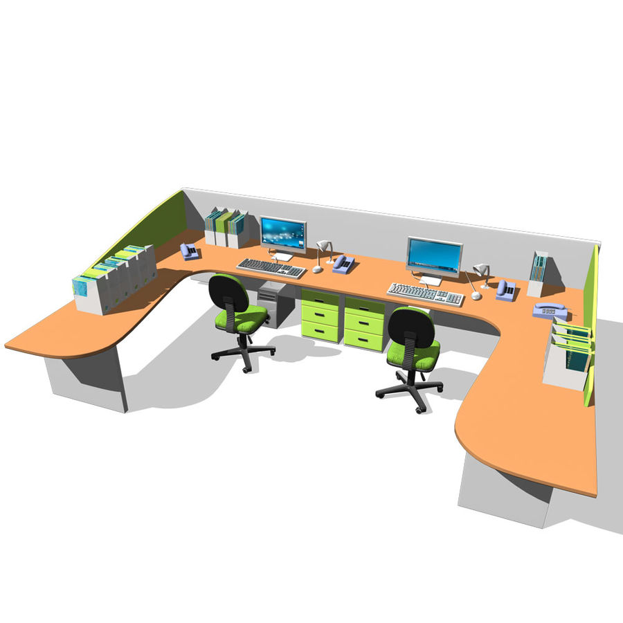bureau royalty-free 3d model - Preview no. 4