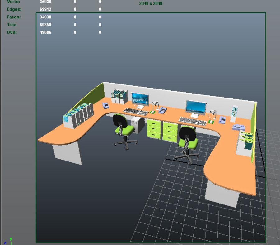bureau royalty-free 3d model - Preview no. 5