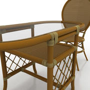 Cafe Table And Chairs 3d model