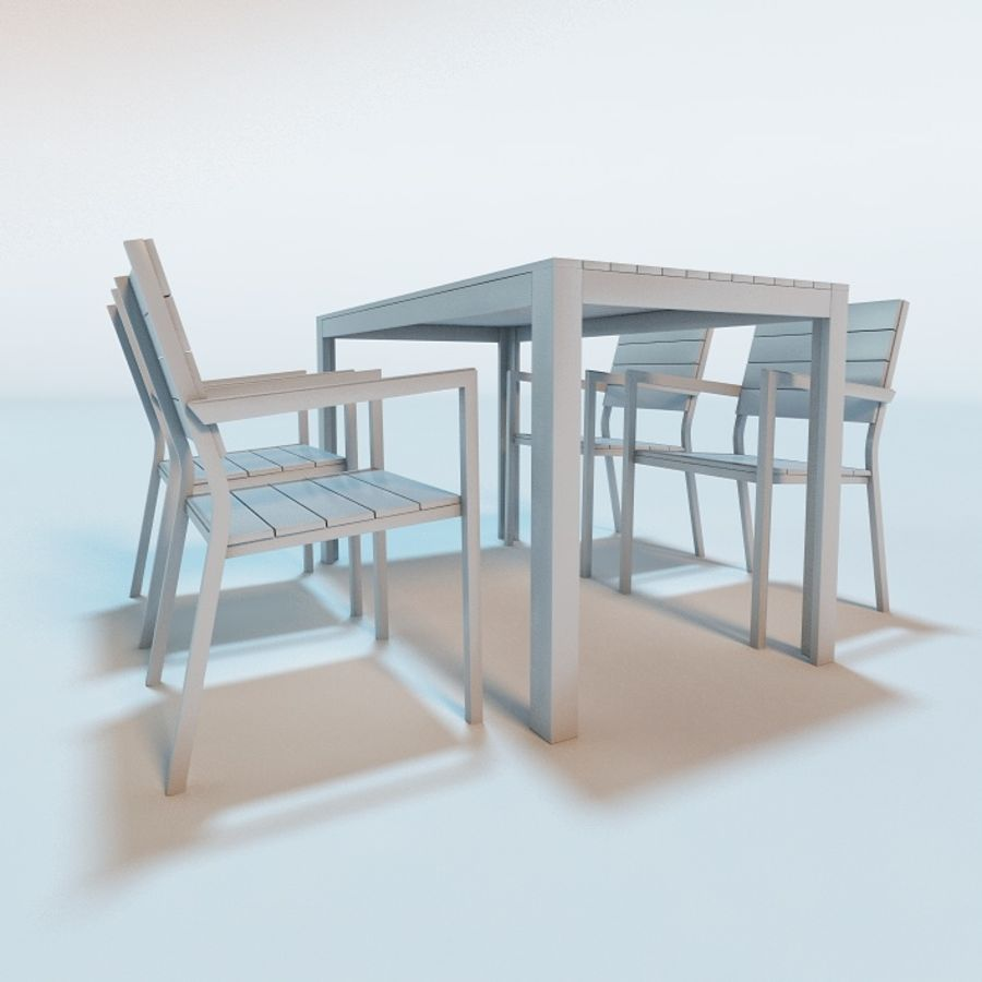 IKEA FALSTER Garden Furniture Royalty Free 3d Model   Preview No. 3