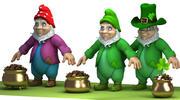 Gnome & Gold Pot 3d model