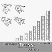Straight Truss Collection (Square) 3d model