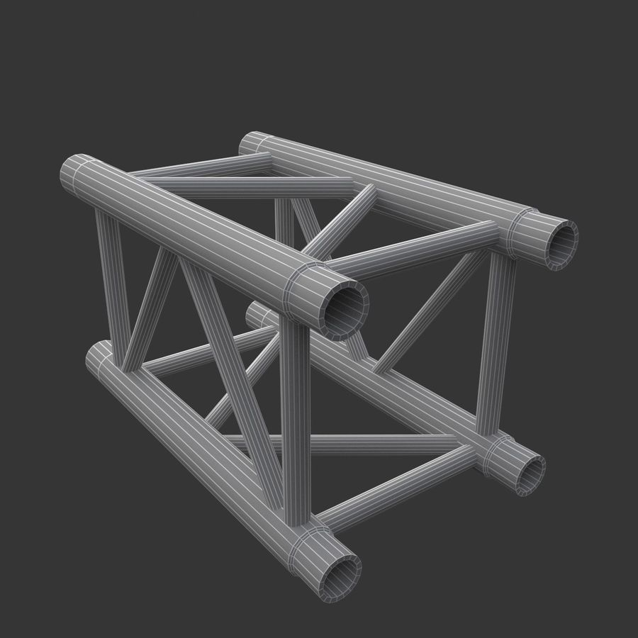 Straight Truss Collection (Square) royalty-free 3d model - Preview no. 5
