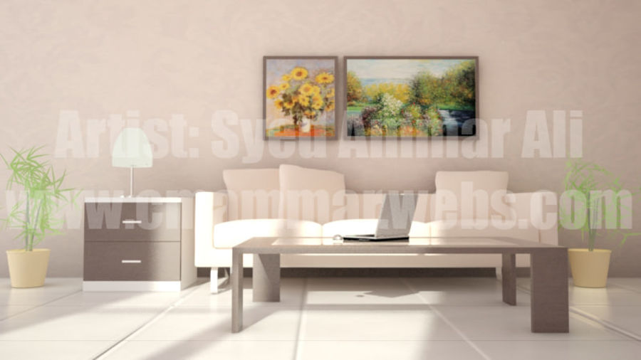 Interior Room Scene royalty-free 3d model - Preview no. 4