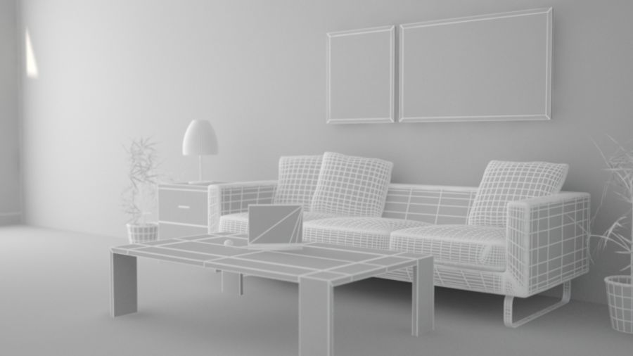 Interior Room Scene royalty-free 3d model - Preview no. 5