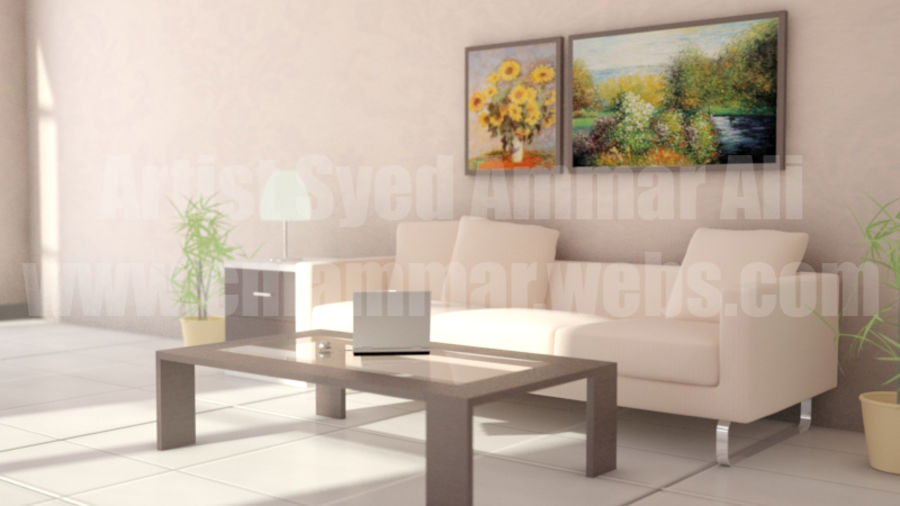 Interior Room Scene royalty-free 3d model - Preview no. 1
