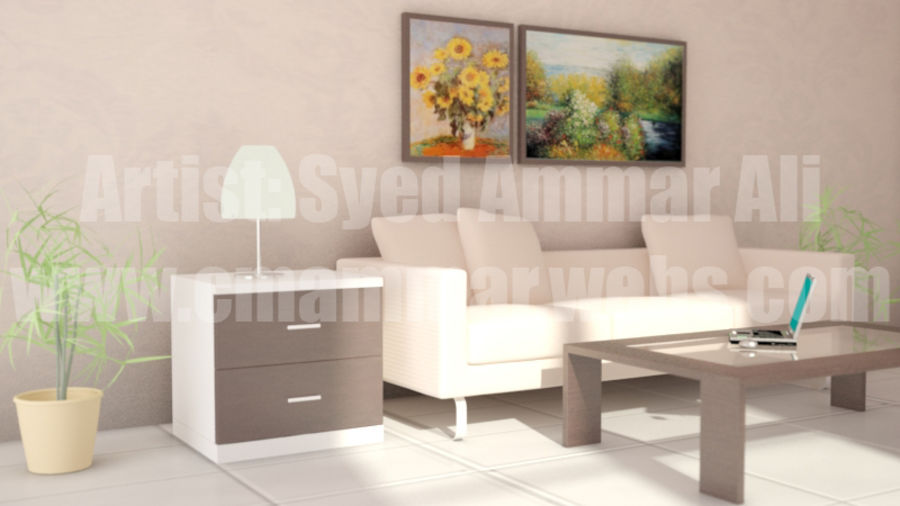 Interior Room Scene royalty-free 3d model - Preview no. 2