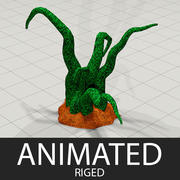 Alien Plant Animated 3d model
