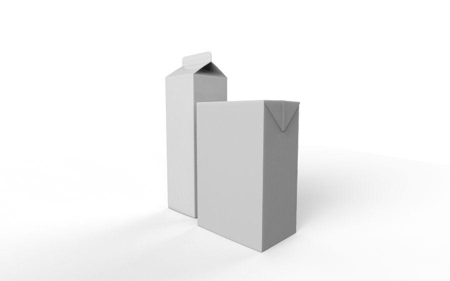 картонная коробка сока и молока royalty-free 3d model - Preview no. 7