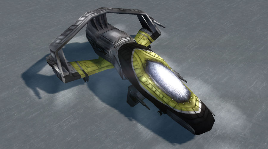 Spaceship Fighter royalty-free 3d model - Preview no. 1