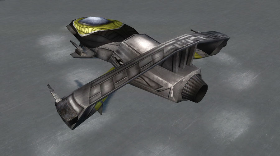 Spaceship Fighter royalty-free 3d model - Preview no. 2