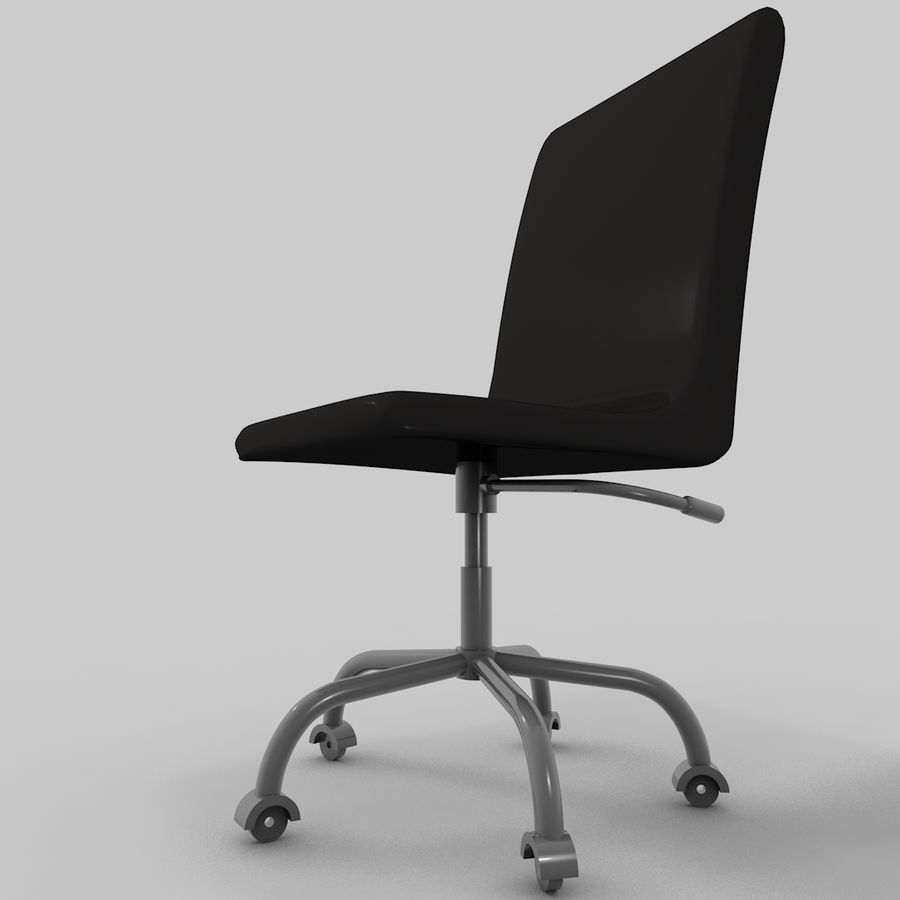 simple office chair. Office Chair (simple) Royalty-free 3d Model - Preview No. 5 Simple