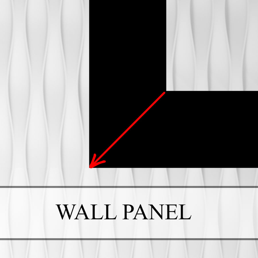 3D_Wall_Panel_1 royalty-free 3d model - Preview no. 1