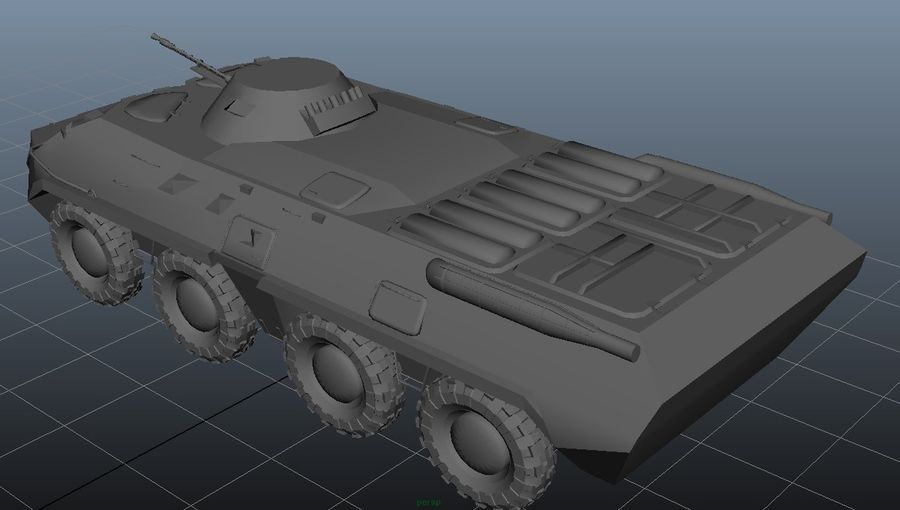 btr royalty-free 3d model - Preview no. 2