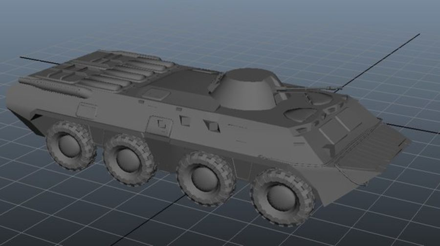 btr royalty-free 3d model - Preview no. 1