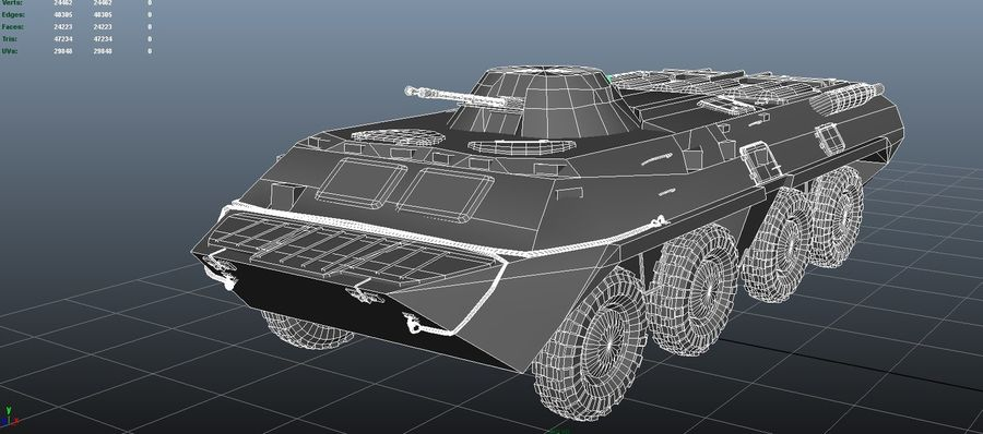 btr royalty-free 3d model - Preview no. 5