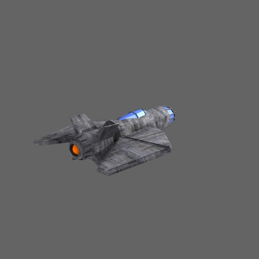 Space Fighter Tigron royalty-free 3d model - Preview no. 3