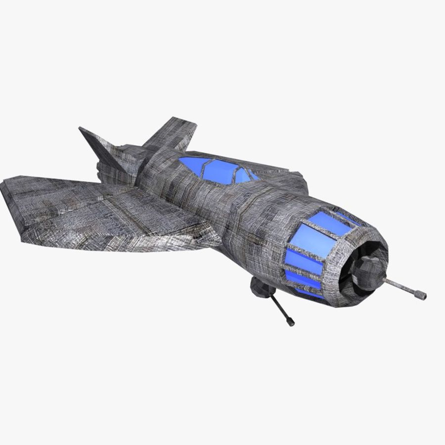 Space Fighter Tigron royalty-free 3d model - Preview no. 1