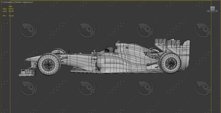 Carro f1 royalty-free 3d model - Preview no. 7