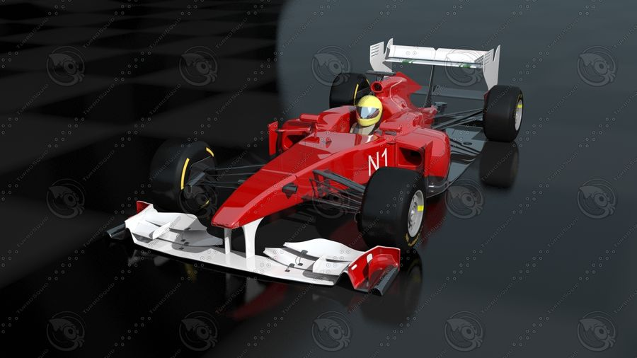 Carro f1 royalty-free 3d model - Preview no. 4