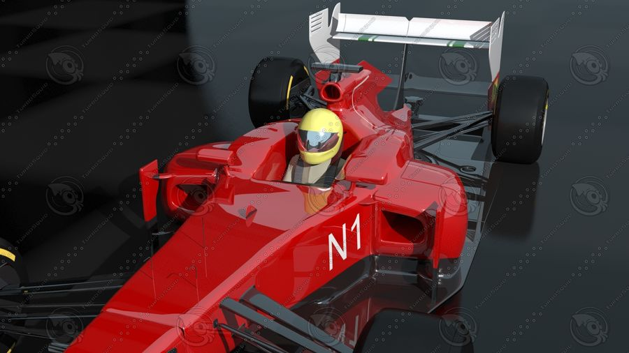 F1 Car royalty-free 3d model - Preview no. 5