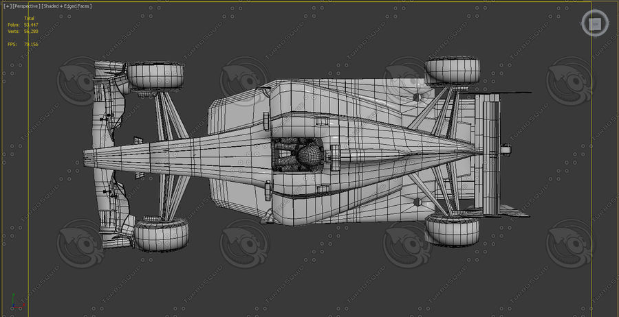 Carro f1 royalty-free 3d model - Preview no. 6