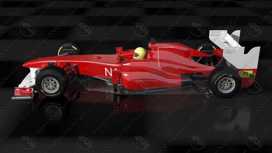 Carro f1 royalty-free 3d model - Preview no. 2
