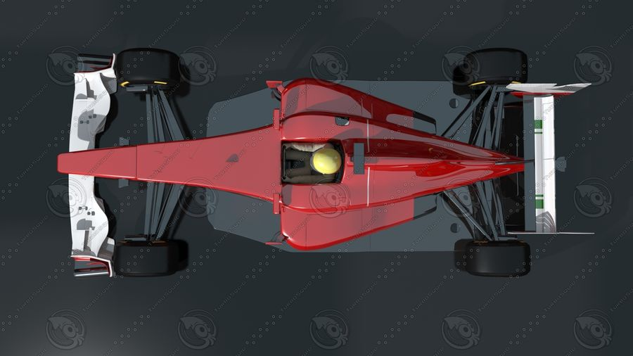 Carro f1 royalty-free 3d model - Preview no. 3