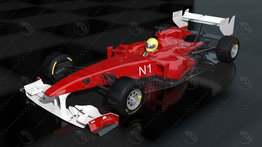 F1 Car royalty-free 3d model - Preview no. 1