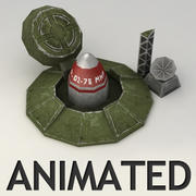 Rocket Silo Lowpoly Animated modelo 3d