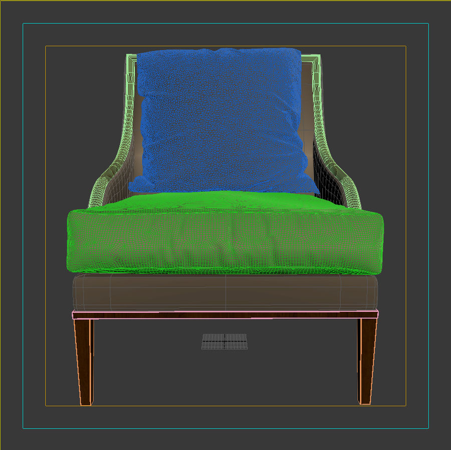 ASTER CHAIR BY CENTURY FURNITURE royalty-free 3d model - Preview no. 7