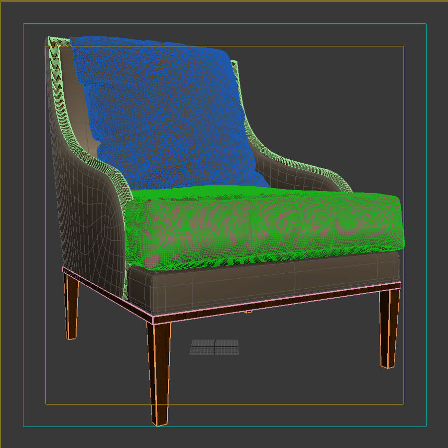 ASTER CHAIR BY CENTURY FURNITURE royalty-free 3d model - Preview no. 12